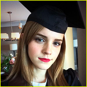 Emma Watson Looks Ready to Graduate in Cap & Gown Pic!