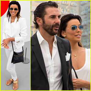 Eva Longoria & Jose Antonio Baston Get Cozy at Frieze Art Fair