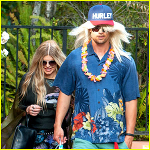Fergie & Josh Duhamel Dress Up for Surfing Themed Party!