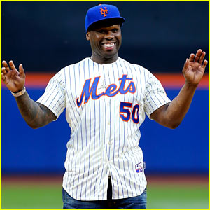 50 Cent Throws First Pitch at Mets Game & Is Way Off the Mark - Watch Now!