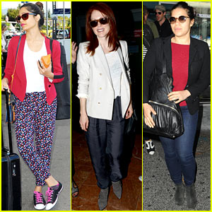 Freida Pinto, Julianne Moore, & Others Arrive in France for Cannes Film Festival!