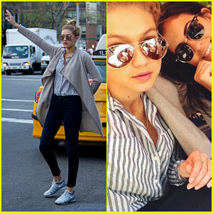 SI Swimsuit Babe Gigi Hadid Lunches in East Village, Hails Cab