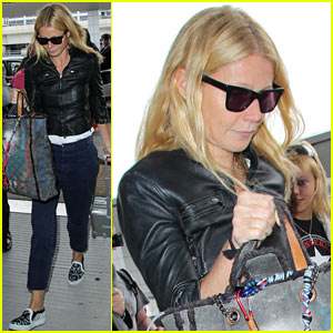 Gwyneth Paltrow Flies Out of Town After Dinner Date with Chris Martin