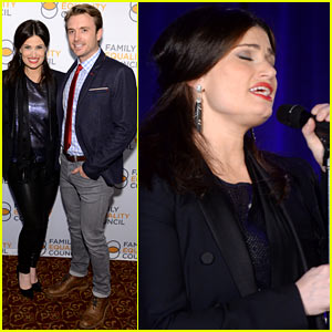 Idina Menzel Belts It Out for Equality at Night at the Pier Event!