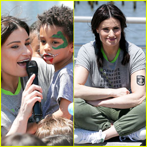 Idina Menzel and son