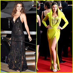 Irina Shayk Is a Green Goddess at 'Search' Premiere in Cannes