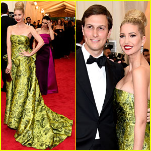 Ivanka Trump Is a Green Goddess with Hubby Jared Kushner at Met Ball 2014