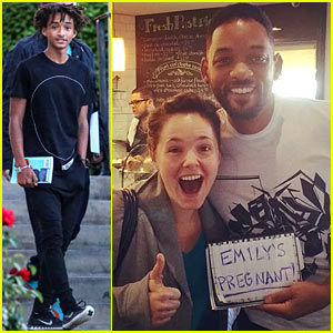 Jaden Smith's Dad Will Smith Helps Fan Announce Her Pregnancy - See the Pic Here!