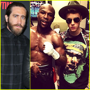 Justin Bieber Escorts Floyd Mayweather to the Ring in Vegas, Hangs Out with Kylie Jenner (Video)