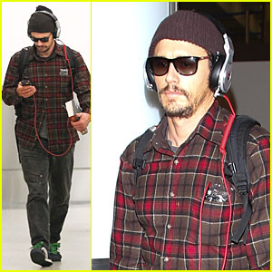 James Franco Drowns Out the Noise with Cool Headphones at LAX!