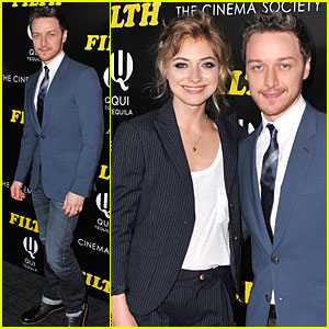 James McAvoy & Imogen Poots Are a Blazer Duo at 'Filth' Screening!