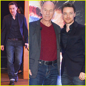 James McAvoy Joins Patrick Stewart in Sao Paulo for 'X-Men' Press Conference!