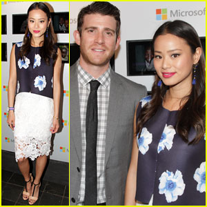 Jamie Chung Supports Fiance Bryan Greenberg at The Olevolos Project Charity Brunch in NYC!