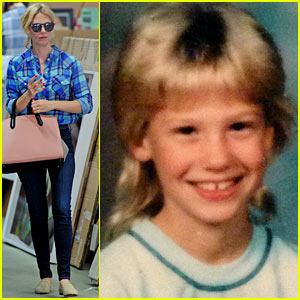 January Jones Shares Amazing #TBT 'Party in the Back' Pic - See Her 5th Grade Pic Here!