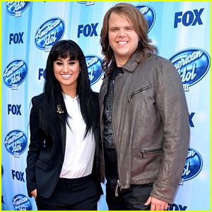 Jena Irene & Caleb Johnson Walk Red Carpet Before 'American Idol' Finale!
