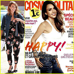 Jessica Alba Looks So Happy as Cosmopolitan France's June Cover Girl!