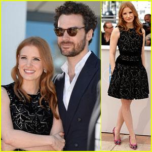 Jessica Chastain Cozies Up to Boyfriend Gian Luca Passi De Preposulo at 'Eleanor Rigby' Photo Call