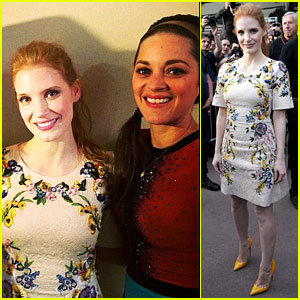Jessica Chastain & Marion Cotillard Make 'Le Grand Journal' Appearance Together!