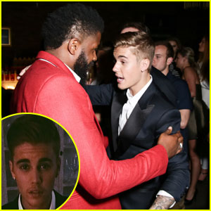 Justin Bieber Brings Back His Famous Mustache for Cannes!