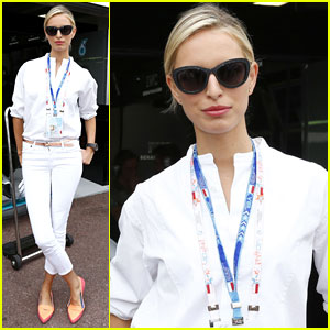 Karolina Kurkova Cheers on Pal Nico Rosberg at Monaco Formula 1 Grand Prix!