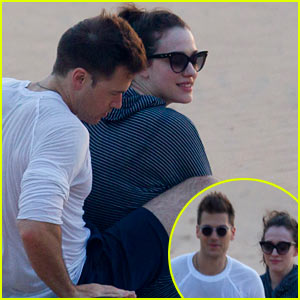2 Broke Girls' Kat Dennings & Boyfriend Nick Zano Cuddle & Watch the Sunset in Hawaii