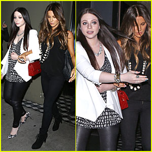 Kate Beckinsale & Michelle Trachtenberg Hook Arms For Craig's Dinner!