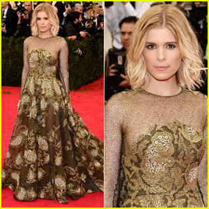 Kate Mara is a Gold Godess on Met Ball 2014 Red Carpet