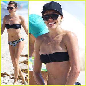 Katie Cassidy Continues to Stun in Her Bikini on Beach Getaway!