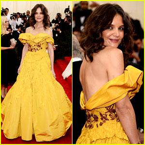 Katie Holmes Channels Belle in Yellow Dress at Met Ball 2014