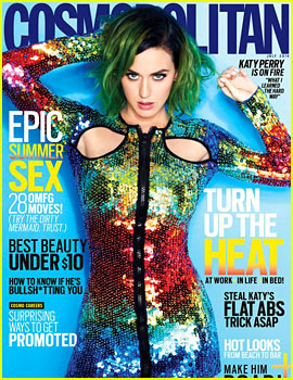 Katy Perry Covers Cosmopolitan July 2014, First Ever Global Cover!