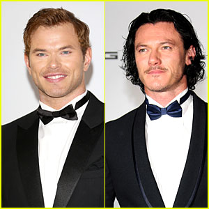 Kellan Lutz & Luke Evans Look Really Dapper in Tuxes at Cannes' amfAR Gala 2014