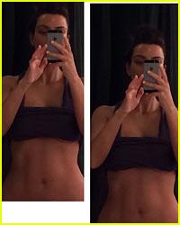 Kim Kardashian Displays Her Amazing Abs in New Selfie