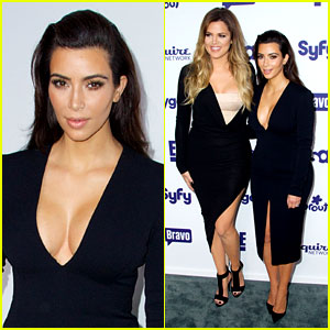 Kim Kardashian Flashes Major Cleavage at NBCU Upfronts!
