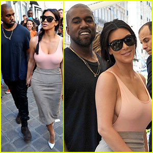 Kim Kardashian Flaunt Her Assets in Form-Fitting Outfit in Paris