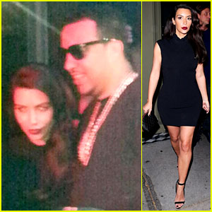 Kim Kardashian Joins Sister Khloe to Support French Montana