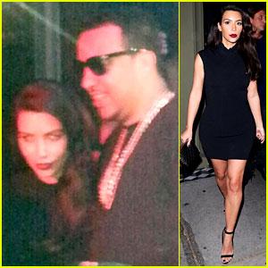 Kim Kardashian Joins Sister Khloe to Support French Montana