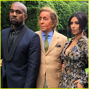 Kim Kardashian & Kanye West Celebrate at Pre-Wedding Brunch Thrown By Designer Valentino Garavani!