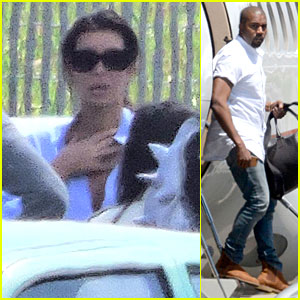 Kim Kardashian & Kanye West Jet to Florence Separately Before Wedding!