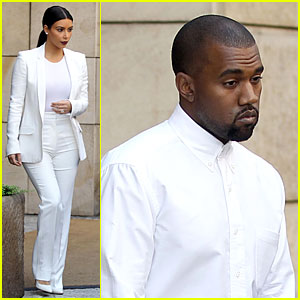 Kim Kardashian & Kanye West Are Matching White Newlyweds!