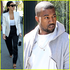 Kim Kardashian & Kanye West Step Out Before the Met Ball 2014