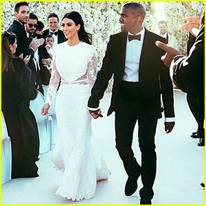 Kim Kardashian Shares First Wedding Photos to Kanye West - See Her Wedding Dress Right Here!
