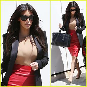 Kim Kardashian Heads To Meeting, Designs 'Kardashian Kids' Boys Collection