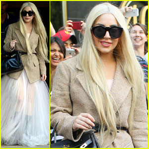 Lady Gaga Emerges in Sheer Gown After 'Best Day Off Ever'!
