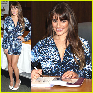 Lea Michele: Another 'Brunette Ambition' Book Signing at The Grove