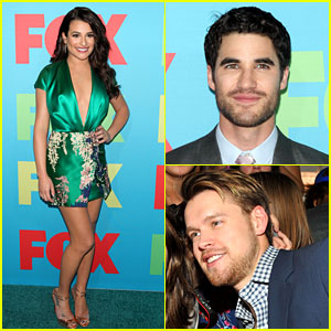 Lea Michele: Fox FanFront 2014 with Darren Criss & Chord Overstreet