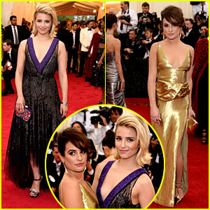Lea Michele & Dianna Agron: 'Glee'ful Gal Pals at Met Ball 2014!