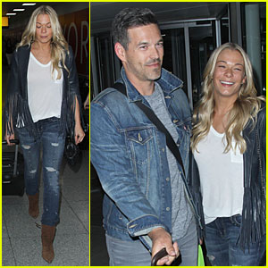 LeAnn Rimes & Eddie Cibrian Are a Cute Denim Pair in NYC!