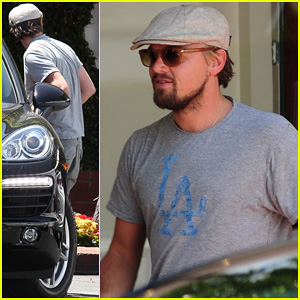 Leonardo DiCaprio Roots For L.A. Dodgers During Lunch Outing!