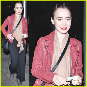 Lily Collins Hits Theater for Late-Night 'Spider-Man 2' Screening!