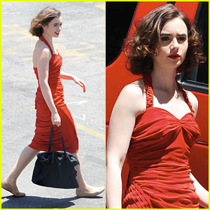 Lily Collins Gets Retro Bob For New Warren Beatty Film Project